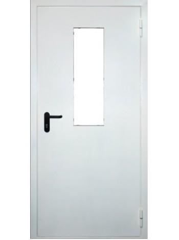 Дверь противопожарная металлическая однопольная с остеклением до 25% площади дверного проема