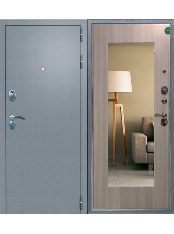 Входная дверь Сотка с Зеркалом (сандал)