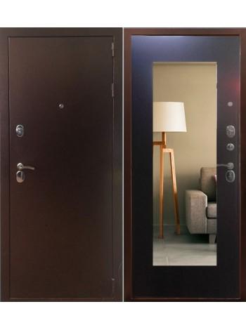 Входная дверь Сотка с Зеркалом (венге)